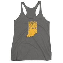 Indiana LIVIN Yellow Logo Women's Racerback Tank (11 colors available) - State Of Livin