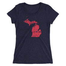 Michigan LIVIN Red Logo Ladies' short sleeve t-shirt (9 colors available) - State Of Livin