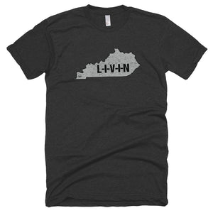 Kentucky LIVIN Men's Short sleeve soft t-shirt - State Of Livin