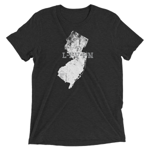 New Jersey LIVIN Charcoal, White, Grey Short sleeve t-shirt - State Of Livin