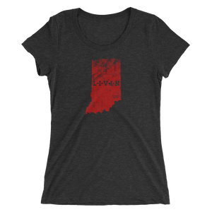 Indian LIVIN Red Logo Ladies' short sleeve t-shirt (9 colors available) - State Of Livin