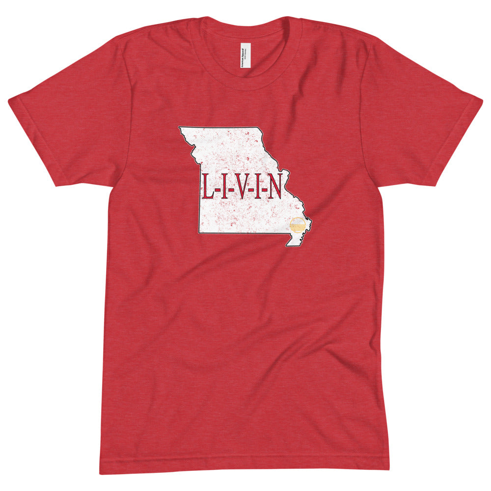 Missouri GAME DAY LIVIN Unisex Crew Neck Tee - State Of Livin