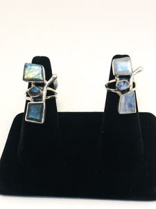 Abstract Moonstone Ring
