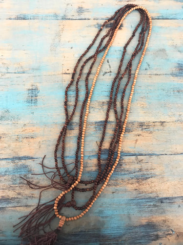 Small Wooden Mala Necklace