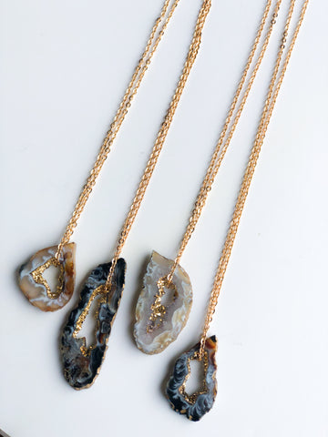 Crystal Agate Necklace