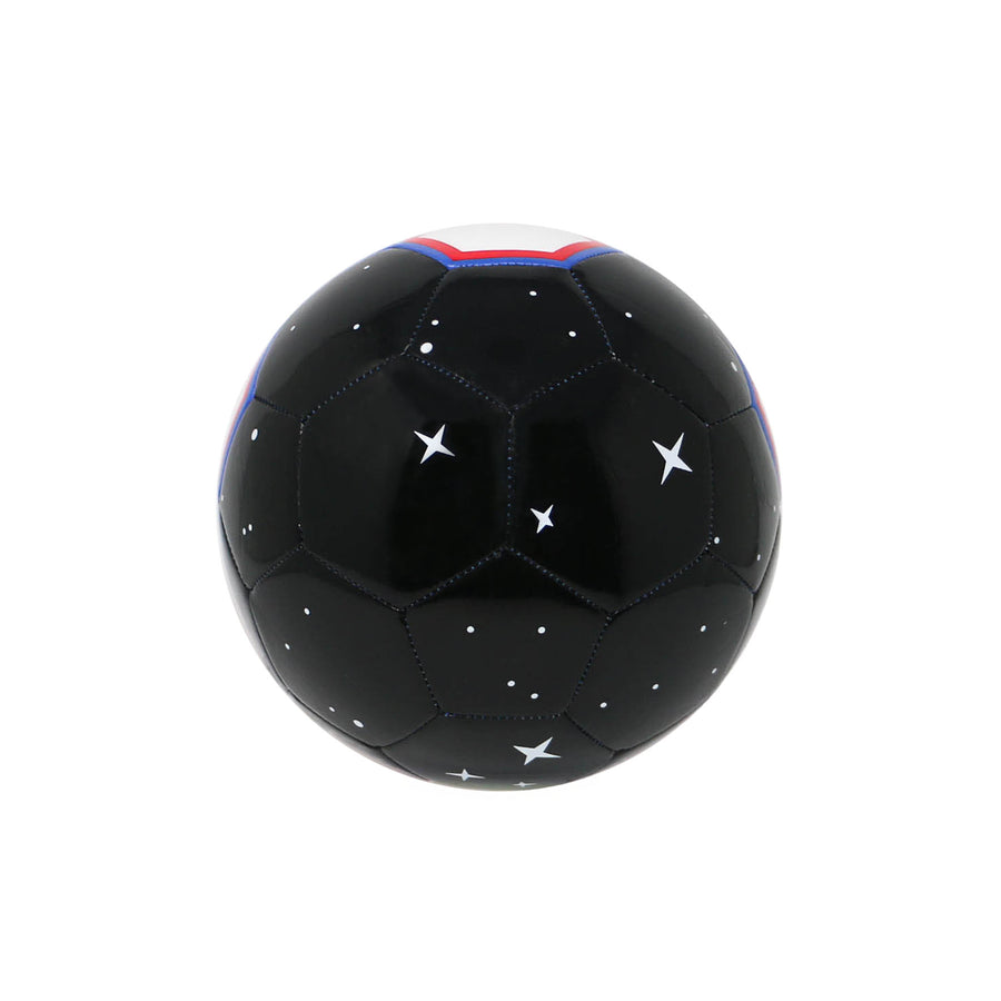 CHANCE Galaxy Soccer Ball Black White Red Blue View 2