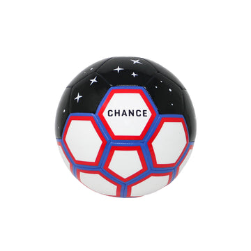 CHANCE Galaxy Soccer Ball Black White Red Blue Main