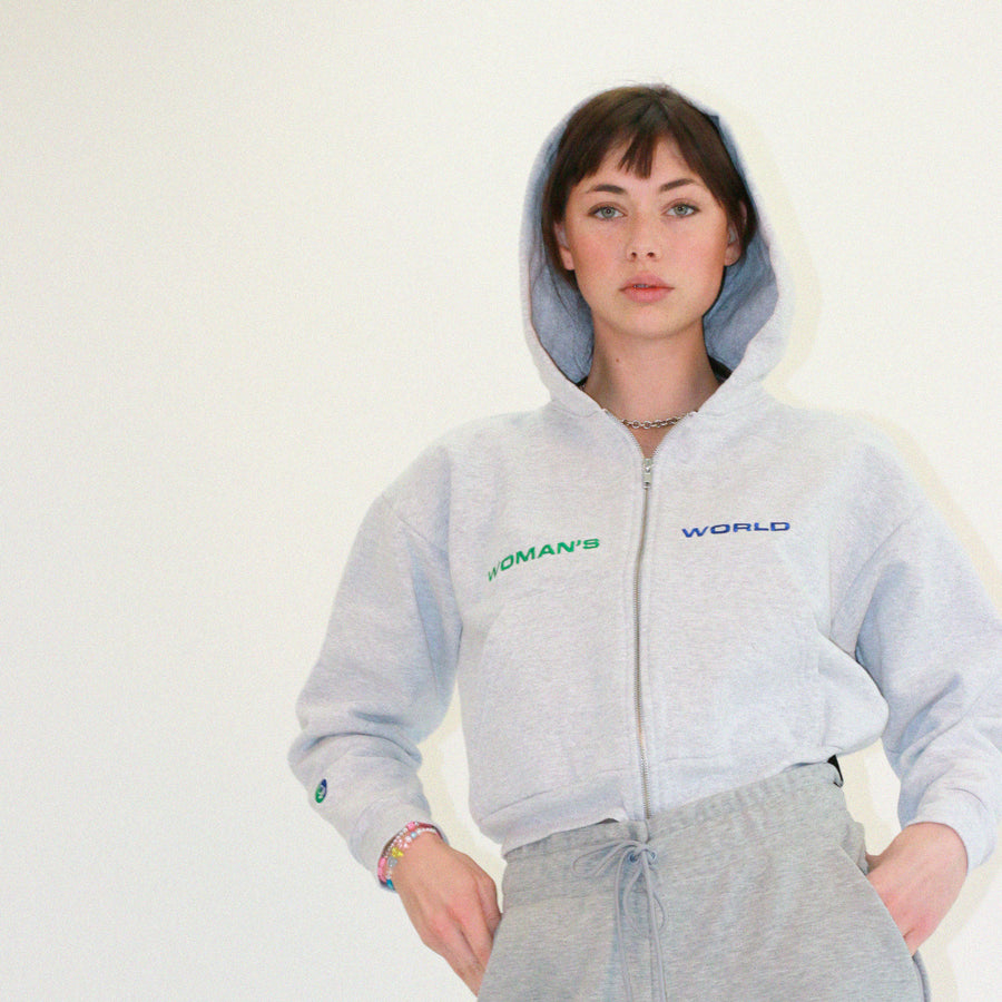 Woman's World Cropped Hoodie
