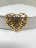 GUCCI HEART CREST BELT