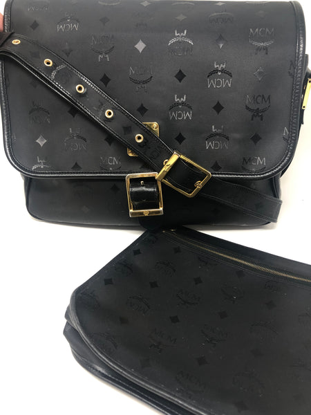MCM Black Crossbody Messenger Bag