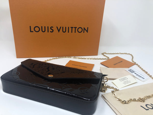 Louis Vuitton Felicie Pochette in Amaranth