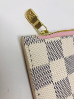 LOUIS VUITTON DAMIER AZUR ROSE BALLERINE CLUTCH