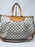 LOUIS VUITTON AZUR DAMIER SIRACUSA GM SHOULDER BAG