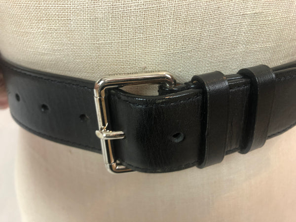 LOUIS VUITTON MAHINA LOGO LEATHER BELT - BLACK