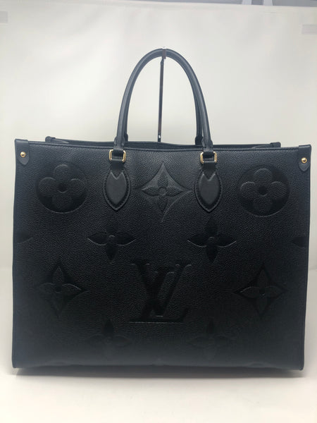Louis Vuitton OnTheGo GM Black Empreinte Tote