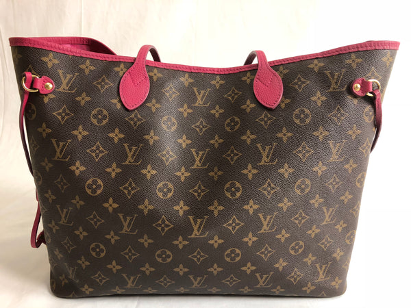LOUIS VUITTON IKAT NEVERFULL GM MONOGRAM INDIAN ROSE