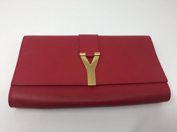 YVES SAINT LAURENT CHYC CLUTCH BRULYWOOD CROSSBODY BAG