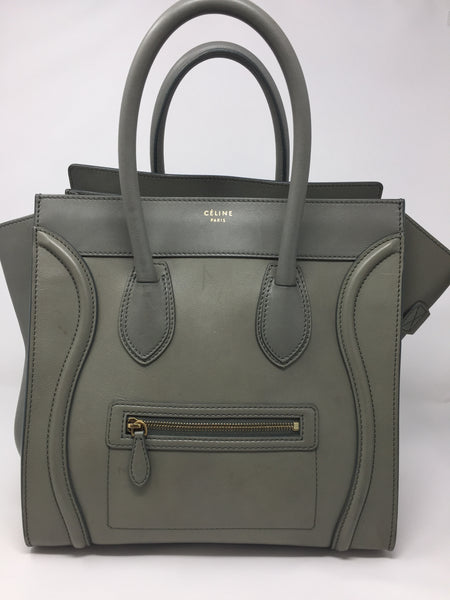 CELINE LUGGAGE CALFSKIN TOTE TAUPE