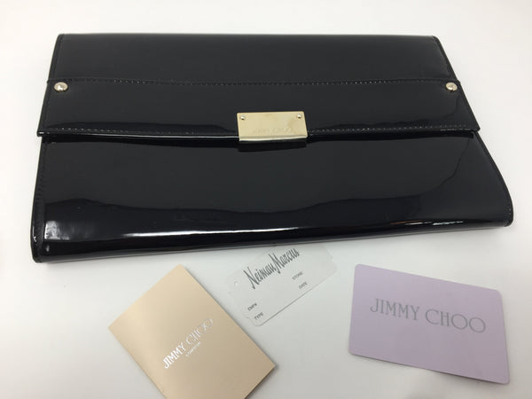 JIMMY CHOO PATENT CLUTCH