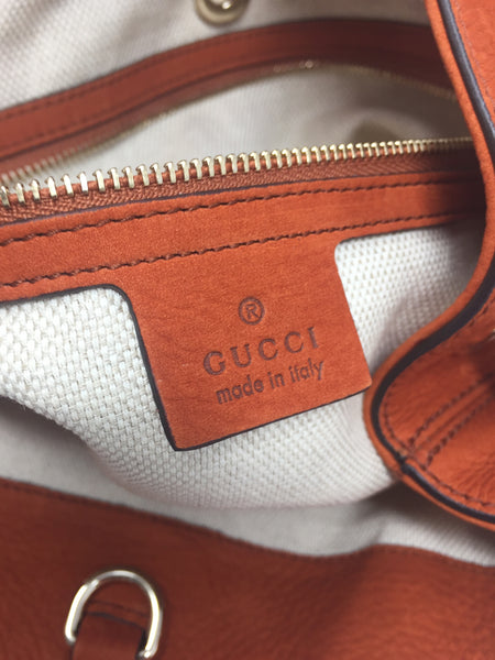 cec9e088d3e GUCCI SOHO HOBO ORANGE-Up to 70% off at Uptown-Guaranteed Authentic!