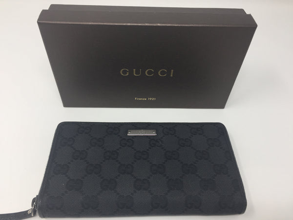 GUCCI ZIP WALLET BLACK