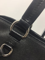 PRADA LEATHER TOTE BLACK