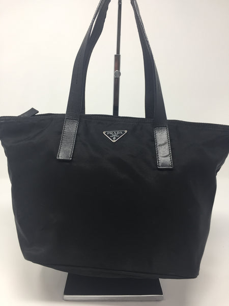 PRADA NYLON SMALL TOTE BLACK