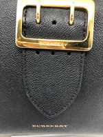 BURBERRY BLACK LEATHER BUCKLE HANDBAG