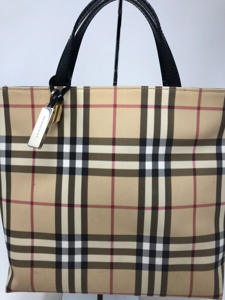 BURBERRY PLAID VINTAGE HANDBAG