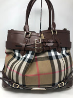 BURBERRY PLAID LARGE TOTE