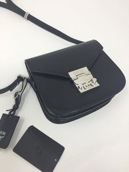 MCM PATRICIA PARK AVE SHOULDER BAG BLACK