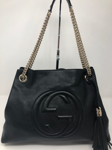 GUCCI BLACK SOHO HOBO BAG
