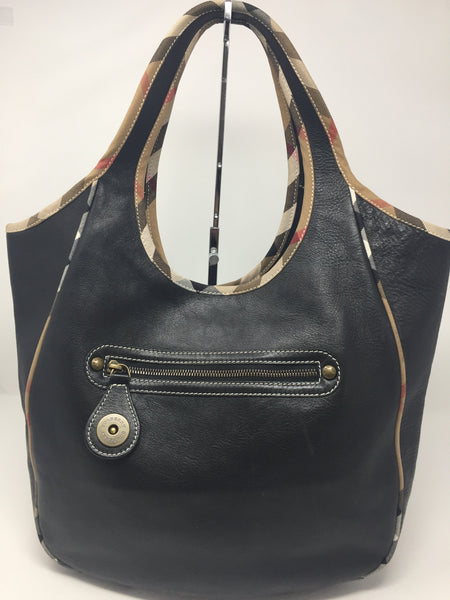 438b7860292d BURBERRY LEATHER HOBO - Up to 70% off at Uptown-Guaranteed Authentic!