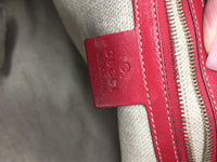 GUCCI RED LEATHER ZIP HOBO