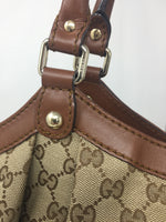 GUCCI GG SUKEY TOTE LARGE BROWN