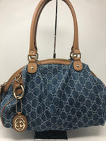 GUCCI DENIM BOSTON SUKEY BAG