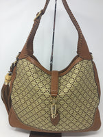 GUCCI DIAMANTE STRAW SHOULDER BAG