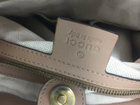 GUCCI SHOULDER TOTE BROWN PINK