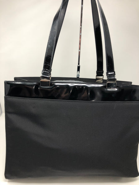 GUCCI BLACK NYLON TOTE