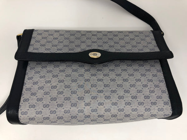 GUCCI VINTAGE NAVY CROSSBODY