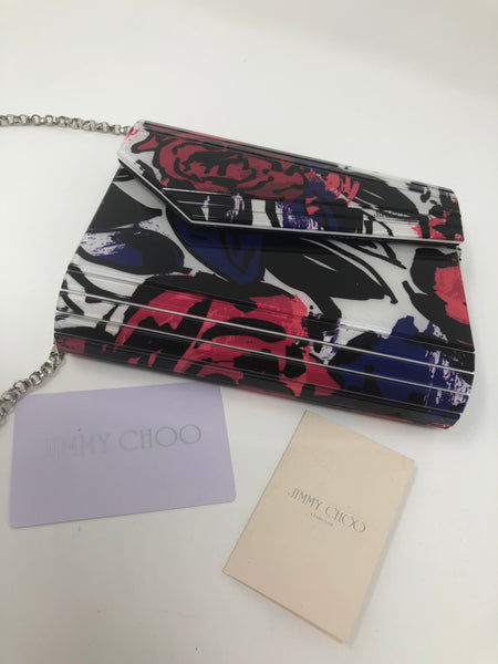 JIMMY CHOO FLORAL CANDY BOX CLUTCH