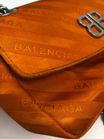 Balenciaga Satin Jacquard S BB Round Shoulder Bag