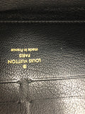 LOUIS VUITTON BLACK MONOGRAM PYTHON ZIPPY WALLET