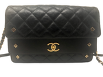 CHANEL CALFSKIN QUILTED DOUBLE FLAP SHOULDER BAG