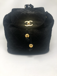 Chanel Vintage Suede Medium Backpack