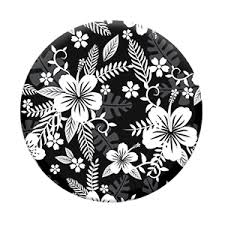 Black and White Flowers PopSocket