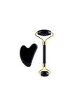 Black Obsidian Facial Roller and Gua Sha Duo