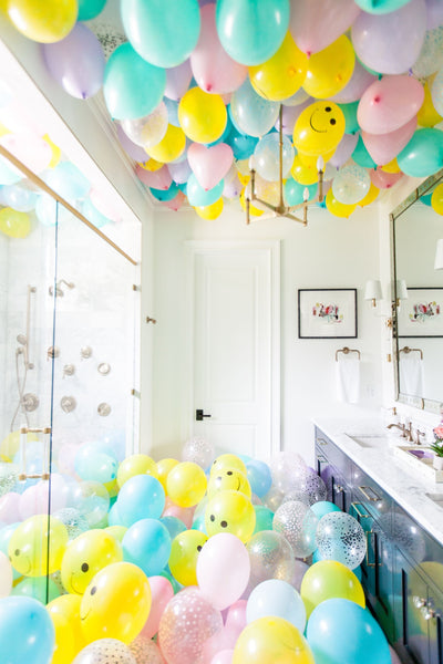 Kendall Simmons Balloons in bathrooms