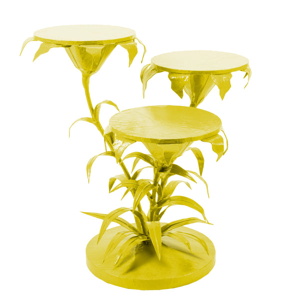 Lily Cluster Table Chartreuse