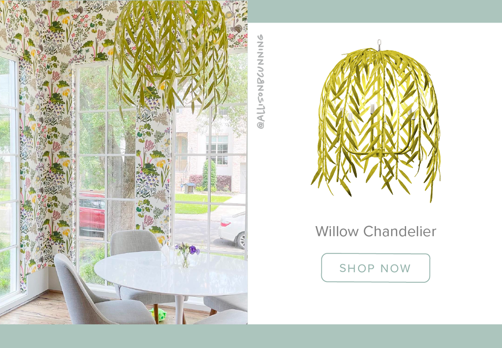 Stray Dog Designs Willow Chandelier in a dining room designed by Alison B Cunning